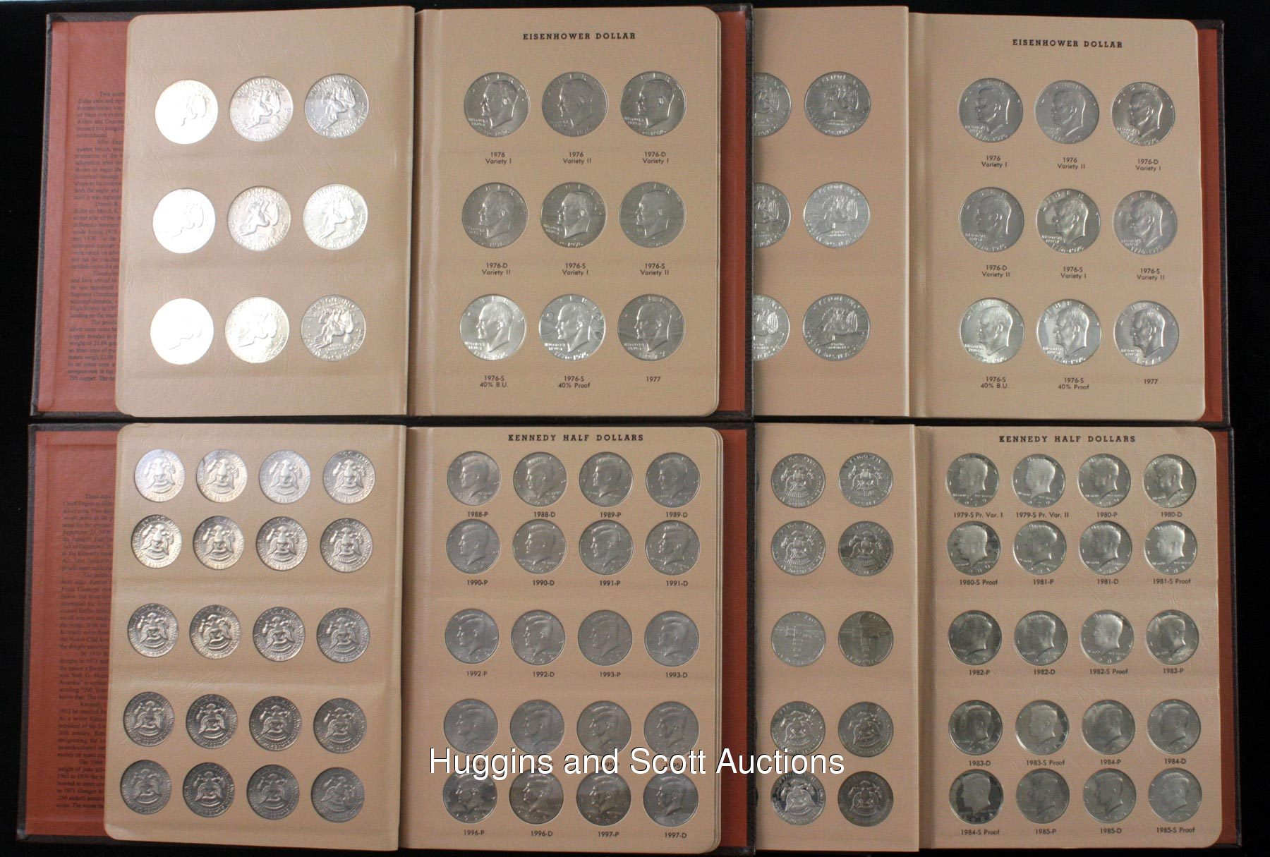 5 Dansco Album Coin Sets With Franklin Amp Kennedy Half