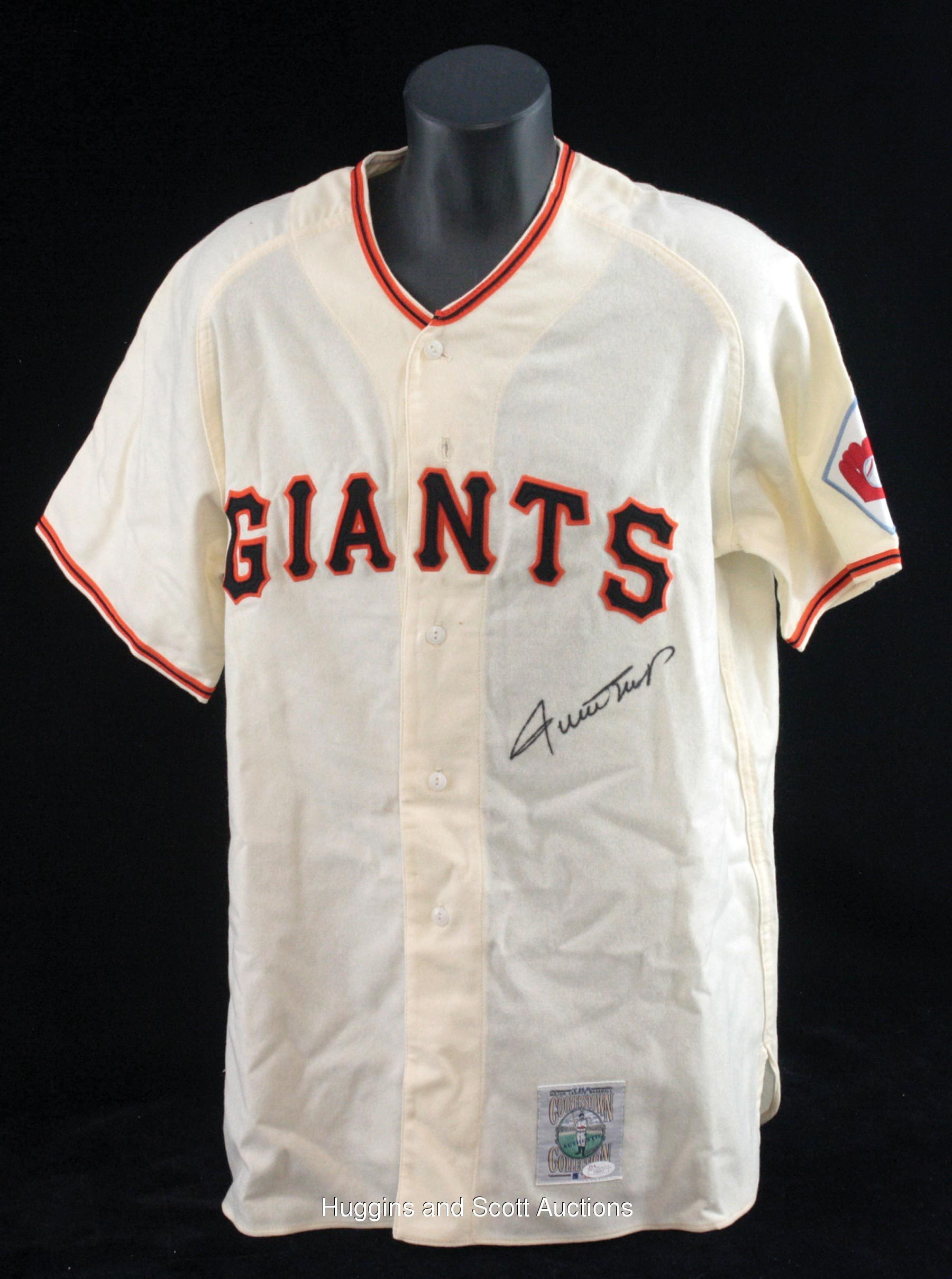 46a0ca64 Willie Mays Autographed Mitchell & Ness 1951 New York Giants Jersey ...
