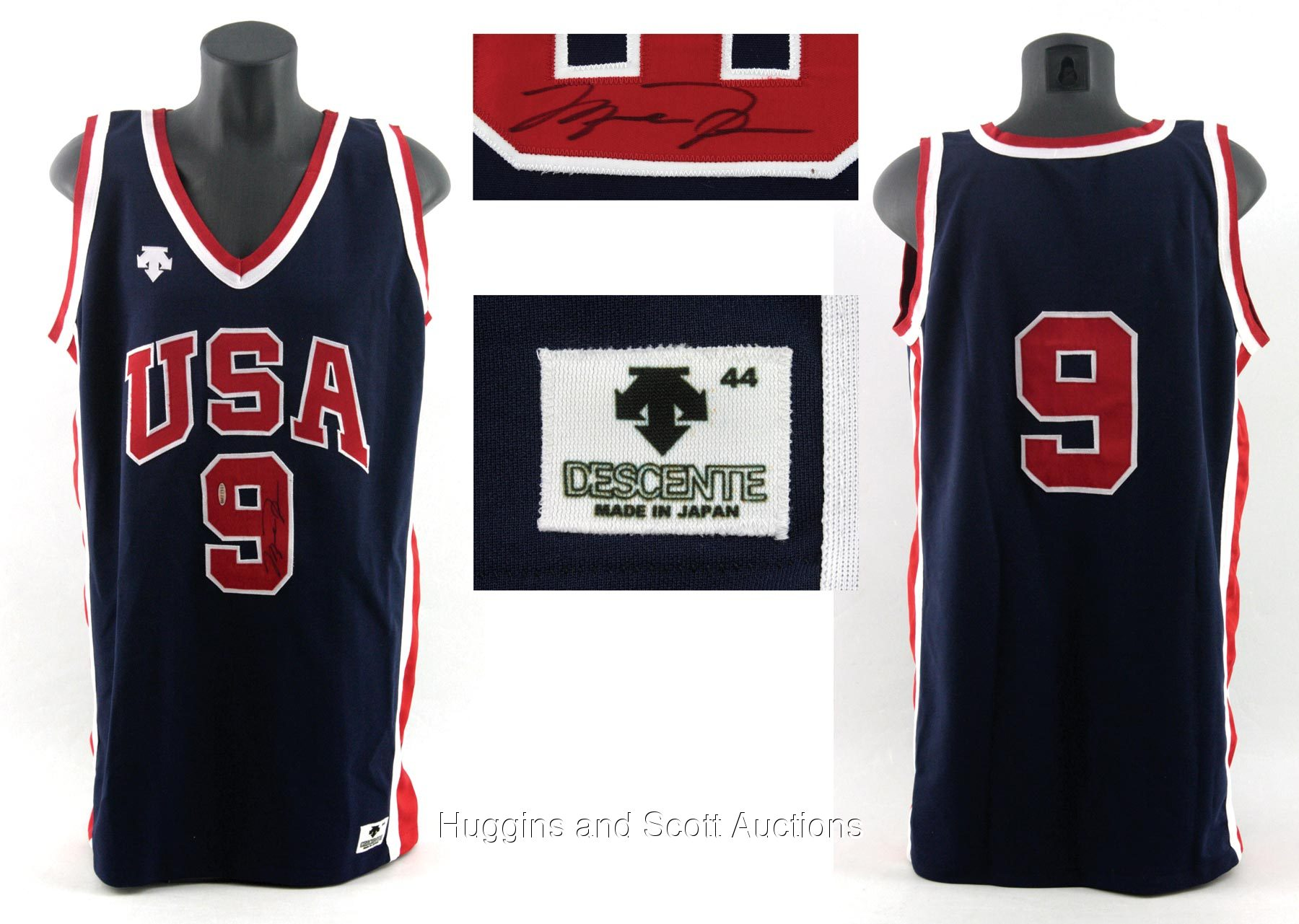 size 40 3a1f0 06734 Michael Jordan Signed Game-Worn 1984 Team U.S.A. Olympic Jersey
