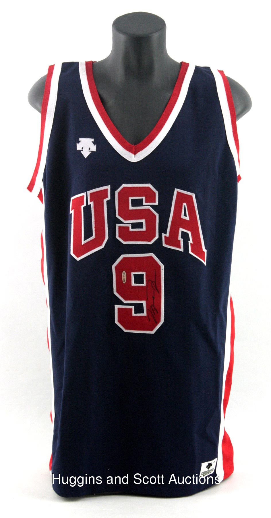 size 40 33047 f92e9 Michael Jordan Signed Game-Worn 1984 Team U.S.A. Olympic Jersey